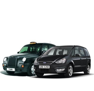 London black cab and London minicab