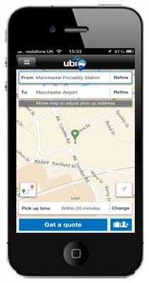 iphone with map manchester