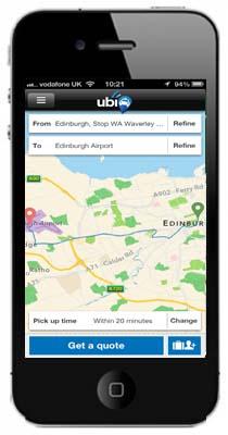 edinburgh iphone and map